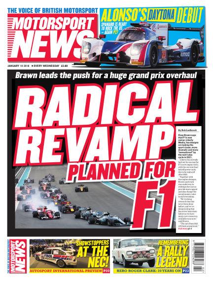 Motorsport News January 10, 2018 00:00