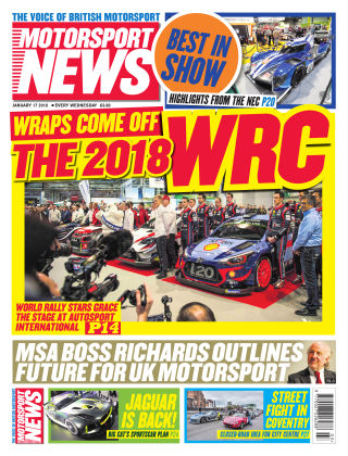 Motorsport News 17th January 2018