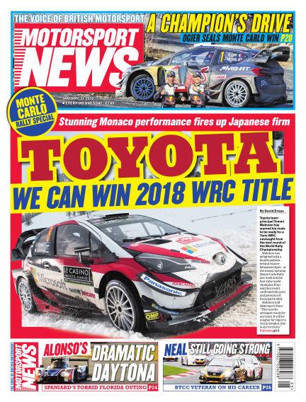 Motorsport News January 31, 2018 00:00