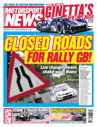 Motorsport News 7th February 2018