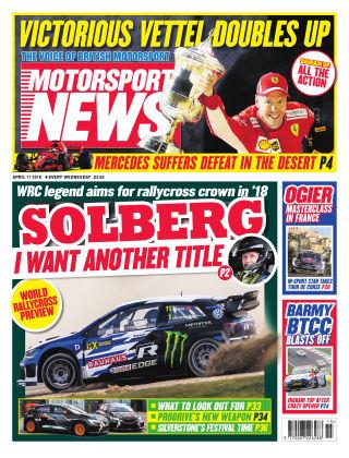 Motorsport News 11th April 2018