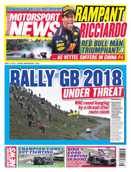 Motorsport News April 18, 2018 00:00