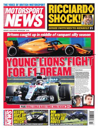 Motorsport News 8th August 2018