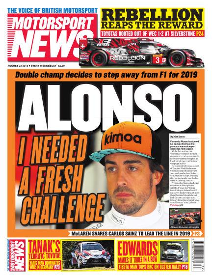 Motorsport News August 22, 2018 00:00