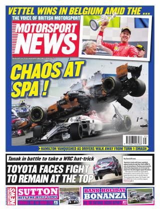 Motorsport News 29th August 2018