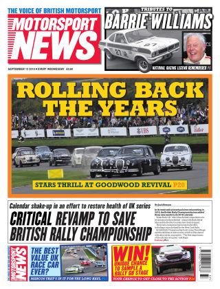 Motorsport News 12th September 2018