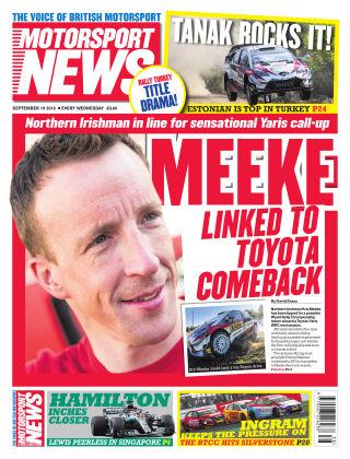 Motorsport News 19th September 2018