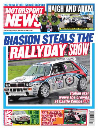 Motorsport News 26th September 2018