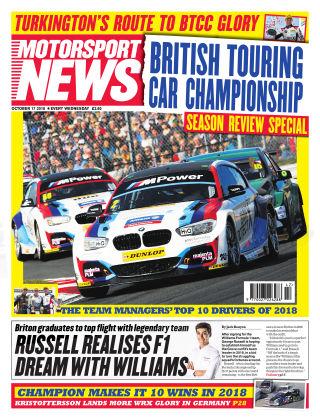 Motorsport News 17th October 2018