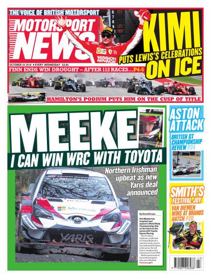 Motorsport News October 24, 2018 00:00