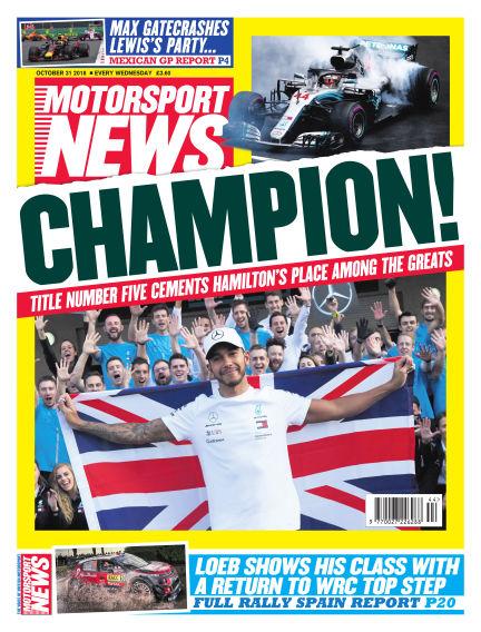 Motorsport News October 31, 2018 00:00