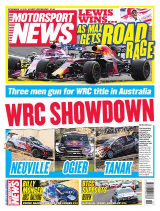 Motorsport News 14th November 2018