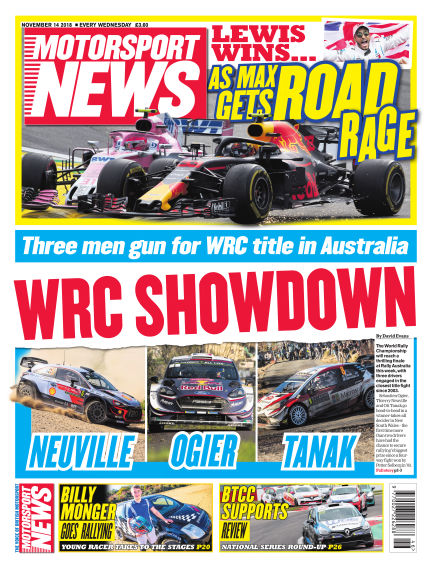 Motorsport News November 14, 2018 00:00