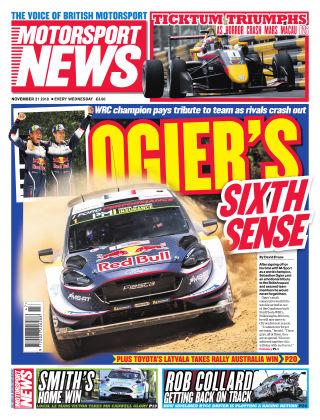 Motorsport News 21st November 2018