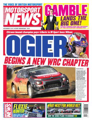 Motorsport News 5th December 2018