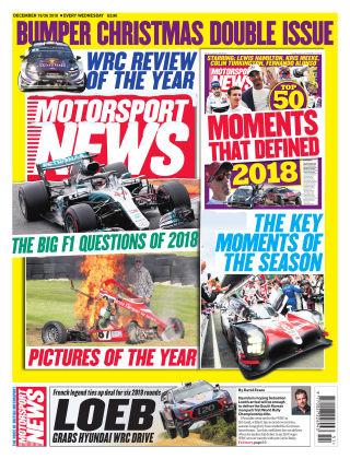 Motorsport News 19th December 2018