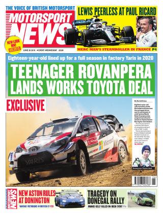 Motorsport News 26th June 2019