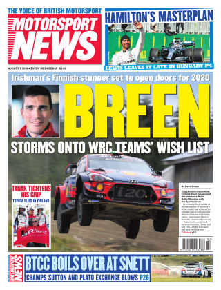 Motorsport News 7th August 2019