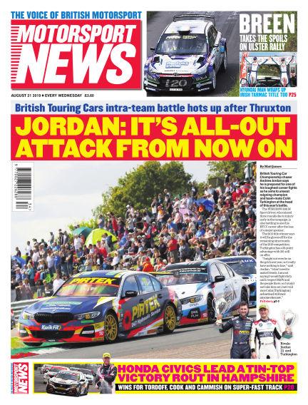 Motorsport News August 21, 2019 00:00