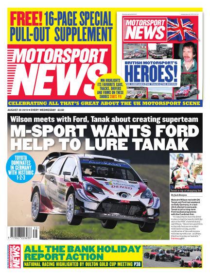 Motorsport News August 28, 2019 00:00