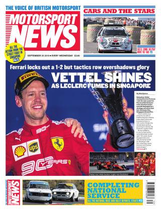Motorsport News 25th September 2019