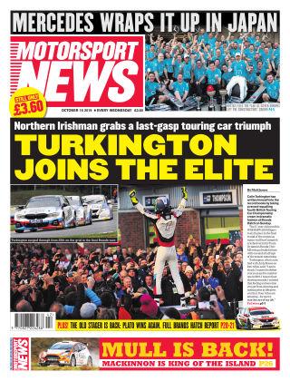 Motorsport News 16th October 2019