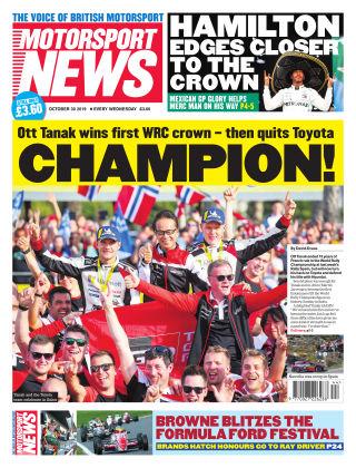 Motorsport News 30th October 2019