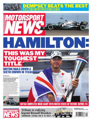 Motorsport News 6th November 2019