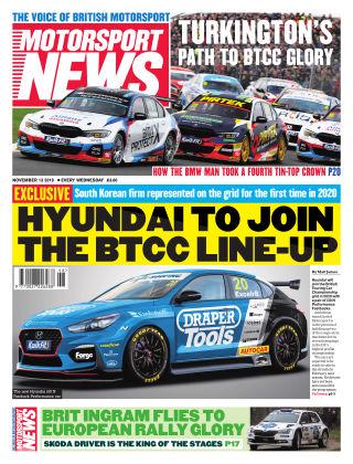 Motorsport News 13th November 2019
