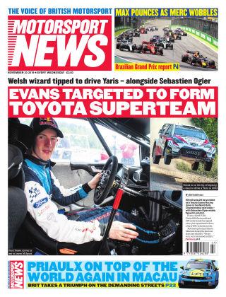Motorsport News 20th November 2019