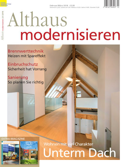 Althaus modernisieren January 27, 2018 00:00