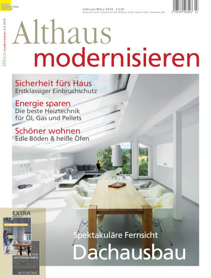 Althaus modernisieren January 26, 2019 00:00