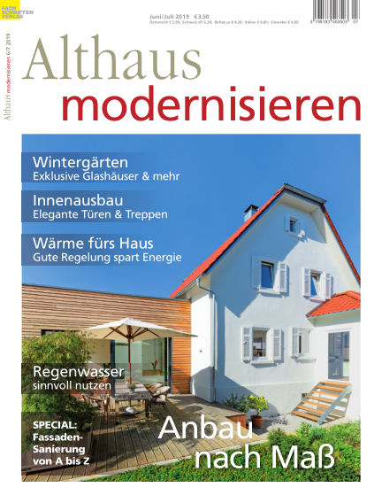 Althaus modernisieren May 18, 2019 00:00