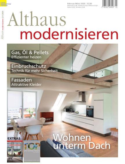 Althaus modernisieren January 25, 2020 00:00