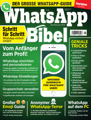 Smartphone Magazin Extra WhatsApp Bibel 1/19