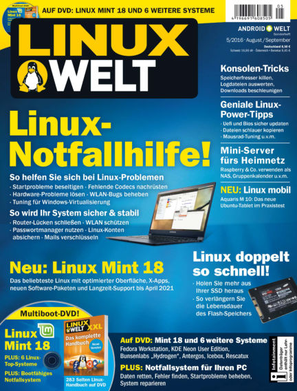 LinuxWelt July 29, 2016 00:00
