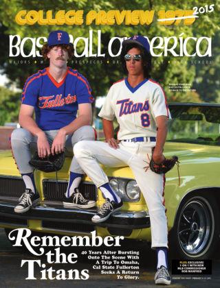Baseball America February 13, 2015
