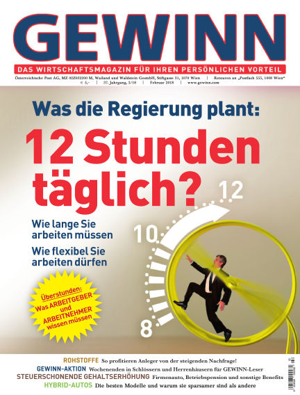 GEWINN January 31, 2018 00:00
