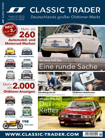 Classic Trader Magazin August 31, 2017 00:00