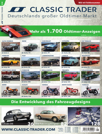 Classic Trader Magazin August 29, 2019 00:00