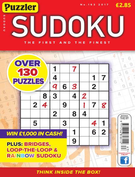 Puzzler Sudoku May 03, 2017 00:00