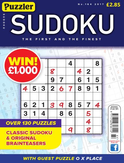 Puzzler Sudoku May 24, 2017 00:00