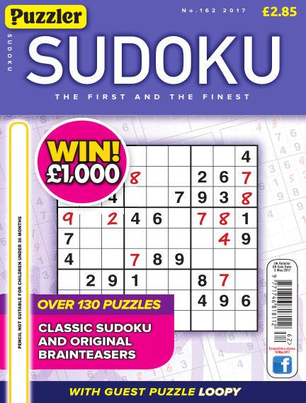 Puzzler Sudoku April 05, 2017 00:00