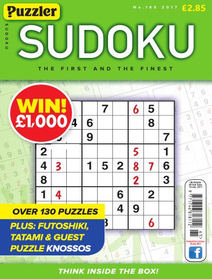 Puzzler Sudoku June 24, 2017 00:00