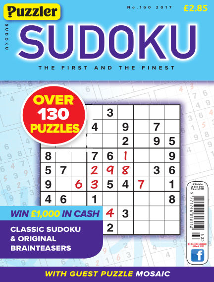 Puzzler Sudoku February 08, 2017 00:00