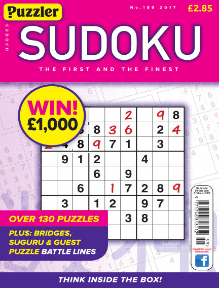 Puzzler Sudoku January 11, 2017 00:00