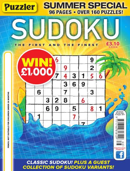 Puzzler Sudoku July 19, 2017 00:00