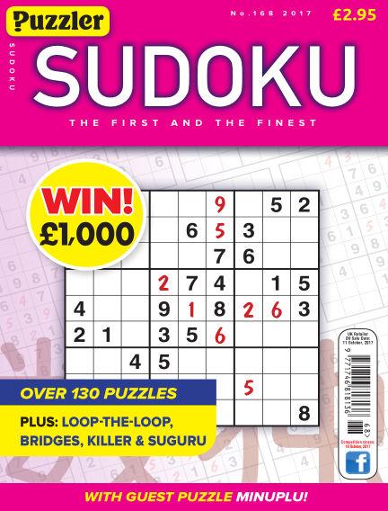 Puzzler Sudoku September 13, 2017 00:00
