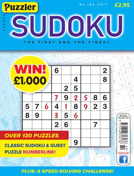Puzzler Sudoku October 11, 2017 00:00