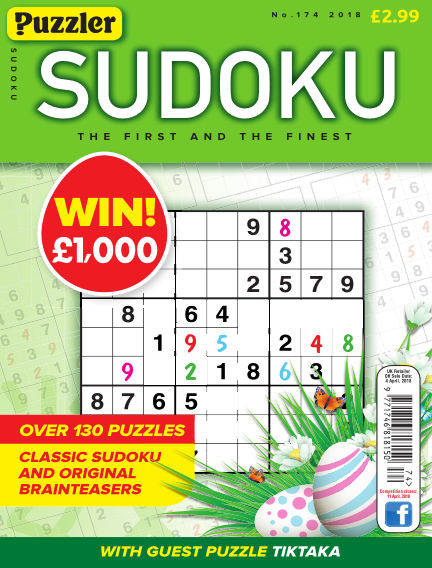 Puzzler Sudoku February 28, 2018 00:00